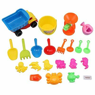340932b9f6d Playoly 21 Piece Beach Sand Toy Set Kids Toys Include Truck