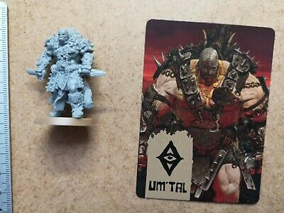 Um'tal Champion Miniature + Card / Barbarian / Hate Board Game Cmon G54