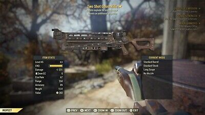 FALLOUT 76 Two Shot EXPLOSIVE Gauss Rifle (LEGIT) AFTER PATCH (PS4)