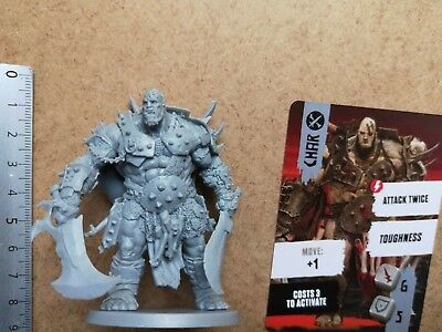 Char  Ogre Mercenary Miniature+ Card / Barbarian / Hate Board Game Cmon G97