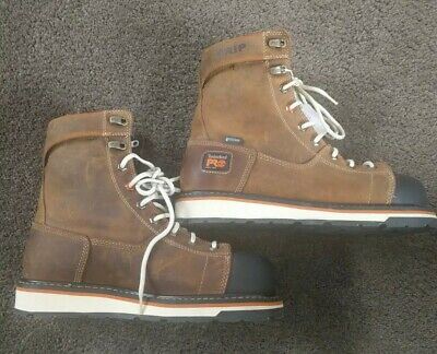 TIMBERLAND PRO Mens SZ 8.5 Gridworks Soft Toe Waterproof Leather Work Boots