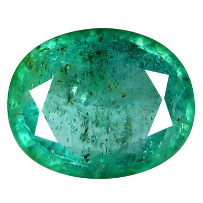 0.91 ct EXTRAORDINARY OVAL CUT (7 x 6 mm) COLOMBIAN EMERALD NATURAL GEMSTONE