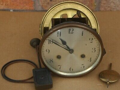 Old Working Junghans Mantel Clock Movement That Fits Approx 5 & Half Inch Hole