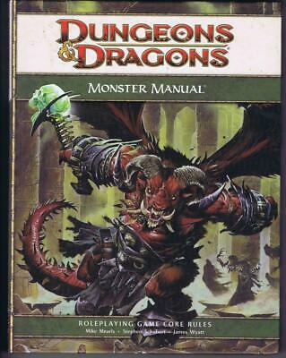 Monster Manual (Dungeons Dragons 4th Ed. D&D Core Rulebook d20 WoTC)