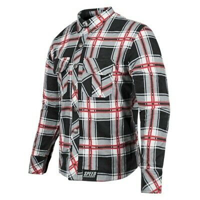 Speed & Strength Rust and Redemption Armored Moto Shirt Lg Blue/Orange 878940