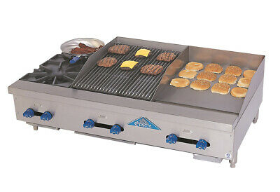 """Comstock-Castle FHP48-18-1.5RB 48"""" Countertop Gas Griddle / Charbroiler"""
