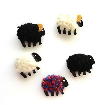 Woolly Sheep Needle Minder Pins - Color Choice