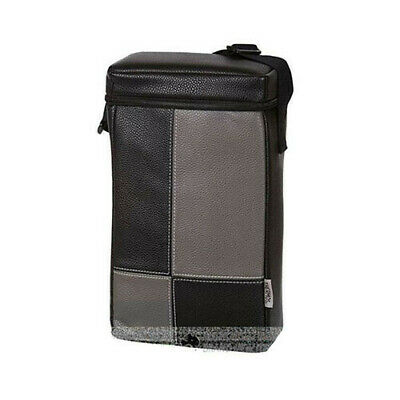 GREY THERMOS Two Bottle Insulated Compartments Bag Carry Picnic Wine Cooler Bag