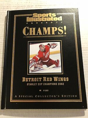 2002 Sports Illustrated DETROIT RED WINGS Hard Cover STANLEY CUP Dominik HASEK
