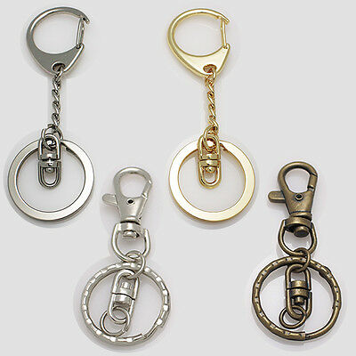 Wholesale Lots 23mm Metal Keychain Keyring Key Holder Keyfob Classy Goods