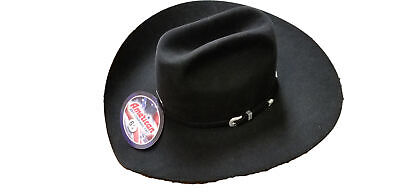acdb0ecf American Hat Company Men's 7X Black 4 1/4 Brim Open Crown Felt Cowboy Hat