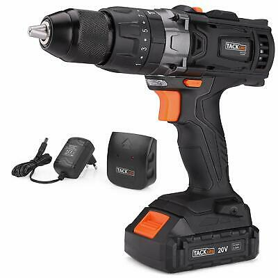 Cordless Drill, Tacklife 20V Drill 2000Ah Lithium-Ion Battery with Hammer Action