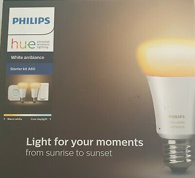 BRAND NEW Philips Hue Starter Kit A60 Inc Hub & Switch