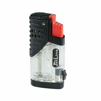 JetLine Patriot Triple Jet Torch Butane Cigar Lighter - Red - New
