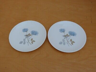 2 Collectable Bone China Wedgwood Ice Rose Side Plates W17 cms