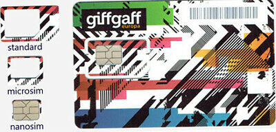 New GiffGaff Sim Card for All Phones