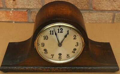 Quality Clean Old Wooden Hac Chiming Mantel Clock Which Chimes On 5 Bars