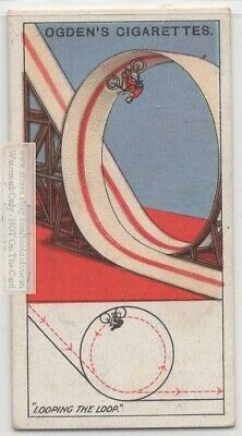 Bicycle Looping The Loop Demonstrates Centrifugal Force c90 Y/O Trade Ad Card