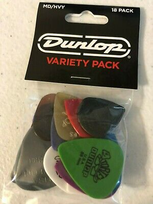 Dunlop Guitar Pick Variety Pack Medium / Heavy 18-Pack