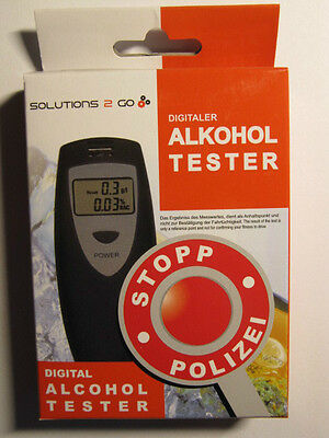 "Digitaler Alkoholtester  ""SOLUTIONS 2 GO"", Made in Germany, CE - Prüfsiegel"