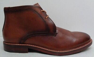 ae3eb6703e6 STEVE MADDEN MENS Shoes Brown Leather Slip On Ankle Boot Size 9.5 ...