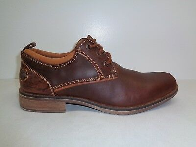 4cd8fbbfdc4 Steve Madden Size 9.5 M NARRATE Tan Brown Leather Lace Up Oxfords New Mens  Shoes