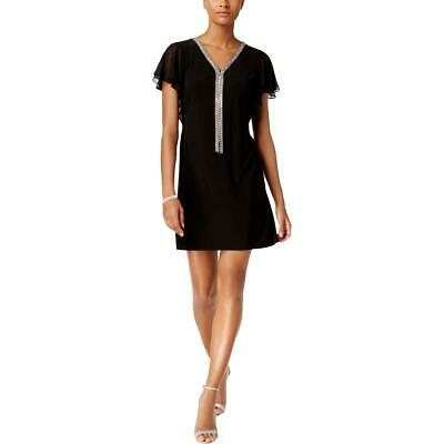 e3acc1fa77 MSK Womens Embellished V Neck Flutter Sleeve Party Dress Petites BHFO 9405