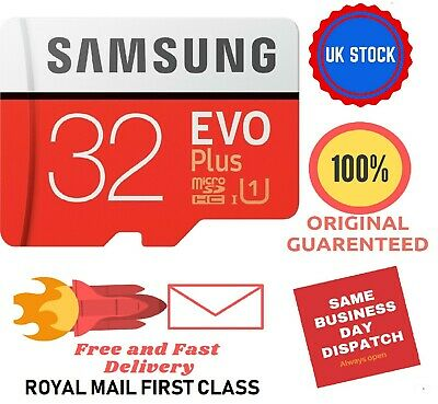 Samsung 32GB micro SD card SDHC memory card Class 10 with adapter EVO+ UHS-1 TF