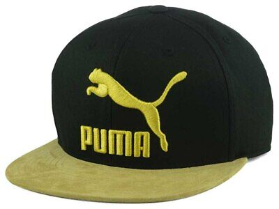35ef973552c Puma Gum Suede Snapback Play for Life Adjustable Hat Cap Lid Flat Bill Brim  Mens