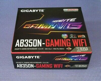 FREE SHIPPING!! NEW GIGABYTE GA-AB350N-Gaming WIFI Motherboard ONLY!