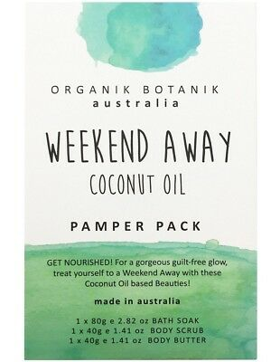 ORGANIK BOTANIK AUSTRALIA WEEKEND AWAY COCONUT OIL PAMPER PACK 160G #eBayMarket