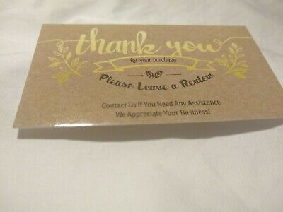 100 eBay Etsy Seller Thank You Bussiness Cards 5 Star Feedback!