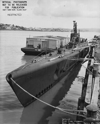 WW2 WWII Photo Submarine SS Sargo SS-188 Mare Island US Navy World War Two 7238