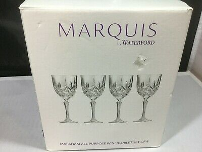 Waterford Marquis Markham All Purpose Large Wine Goblets - NIB -4