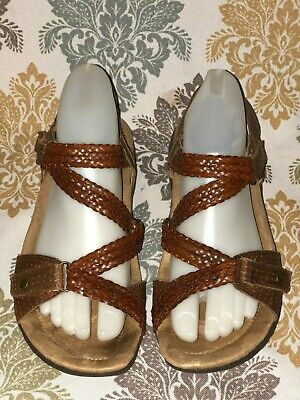 584d2b178f53 EARTH ORIGINS  STELLA  Brown Woven Leather Sandals - Women s Size 7 ...