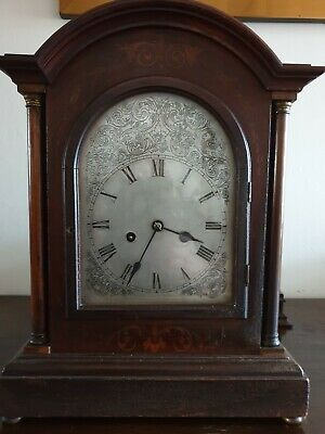 Antique wooden mantel clock Edwardian
