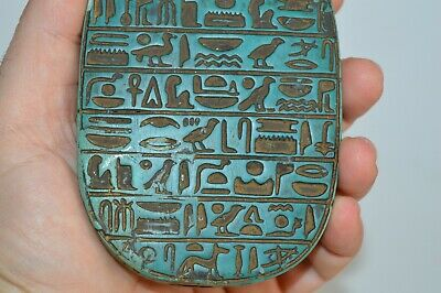 Ancient Egyptian unique Scarab Beetle carved in turquoise 3000 BC
