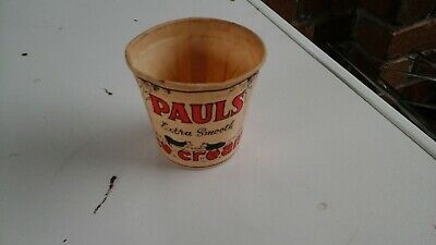 Pauls Extra Smooth Ice Cream Waxed Dixie Cup.