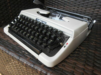 Vintage Brother 215 portable typewriter & case Ex. Cond. 1970s