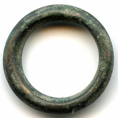 Authentic (18 mm, 2.33 g.) bronze Ancient Celtic ring money, 800-500 BC, Europe