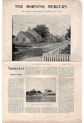 RARE 1899 NANTUCKET ISLAND Summer Home Pictorial MORNING MERCURY Sconset ACK