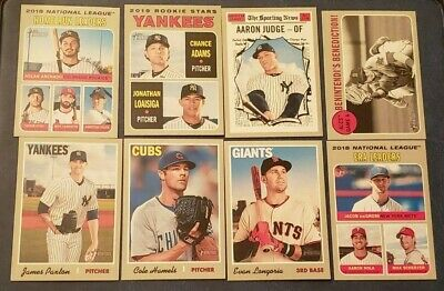 2019 Topps Heritage Veteran Rookie Stars RC Base (A-J) You Pick From List