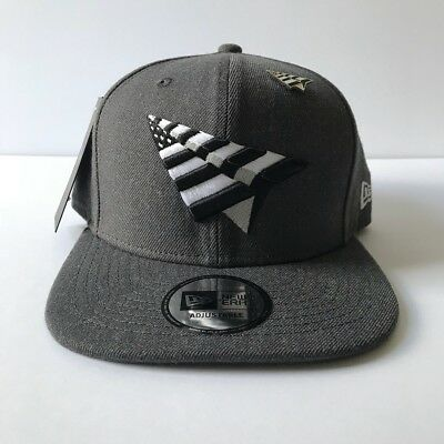 03317a23338 Roc Nation Charcoal Gray 59Fifty Crown Paper Planes Snapback With Pin Jay-Z  Hat