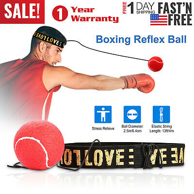 Boxing Reflex Ball Punching Ball W/headband Fight Boxing Improving Speed Ball US