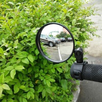 Flexible ABS Rear View Bicycle Convex Mirror Handlebar Bike Rearview Wide Angle