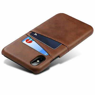 For Apple iPhone X 10 Ten Leather Wallet Cards Holder Back Cover Shockproof Case
