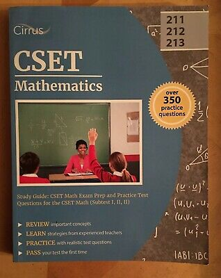 CSET MATHEMATICS EXAM Flashcard Study System - $43 99 | PicClick