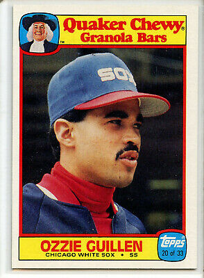 1986 TOPPS QUAKER CHEWY #20 OZZIE GUILLEN  Chicago White Sox