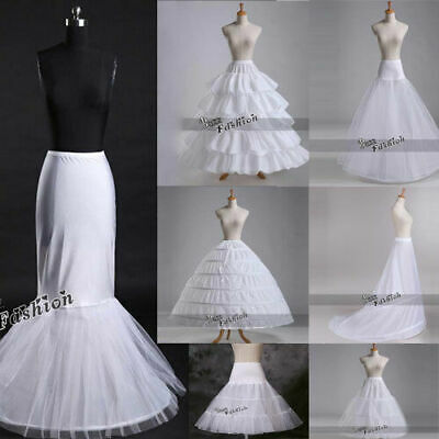 White Wedding Petticoat Bridal Hoop/Hoopless Crinoline Underskirt Skirt Costume