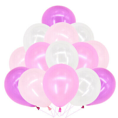 "100pcs 10"" Mix Pink HELIUM Pearlised Latex BALLONS BALLOONS Party Wedding"